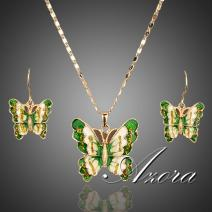 Set Butterfly Green AZORA - Zielony
