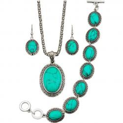 Set Turquoise Antique - Zielony/Typ2